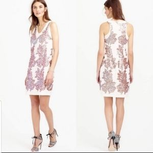 J.Crew linen blend dress Ivory with sequins size 0